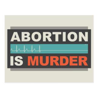 Abortion Is Murder Postcard