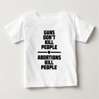 Abortion Kills People Baby T-Shirt