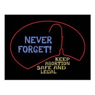 Abortion Safe & Legal Postcard