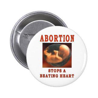 ABORTION STOPS. 2 INCH ROUND BUTTON