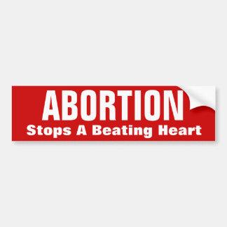 ABORTION, Stops A Beating Heart Bumper Sticker