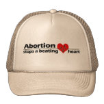 Abortion Stops a Beating Heart, Pro-Life Trucker Hat