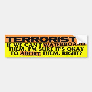 Abortion VS Waterboarding Bumper Sticker
