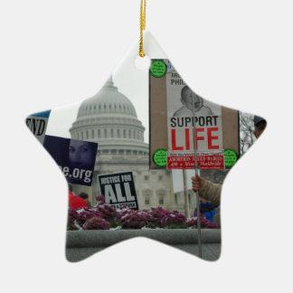 Aborto del final adorno de cerámica en forma de estrella