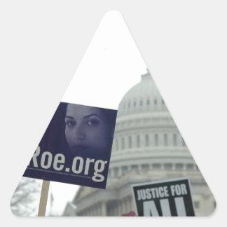Aborto del final calcomanías trianguloes