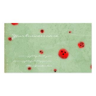 Abotona la aguamarina roja apenó la tarjeta de vis tarjeta de visita