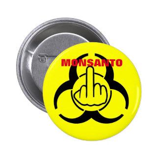 Abotone el bio tirón del peligro de Monsanto Pin Redondo 5 Cm