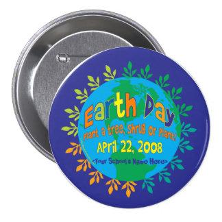 """ABOTONE el Día de la Tierra """"planta del ~ un árbol Pin Redondo De 3 Pulgadas"""
