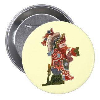 ¡Abotone el maya divertido indio con la cerveza! Pin Redondo De 3 Pulgadas