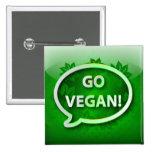 Abotone el verde del icono VAN VEGANO Pin
