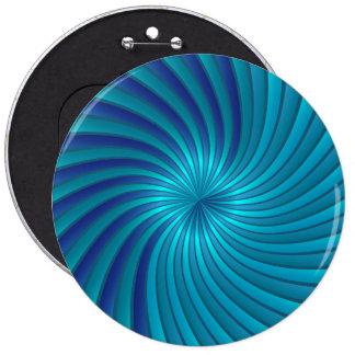 Abotone el vórtice espiral azul pin redondo de 6 pulgadas