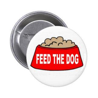 Abotone la alimentación roja del cuenco de la comi pin redondo de 2 pulgadas