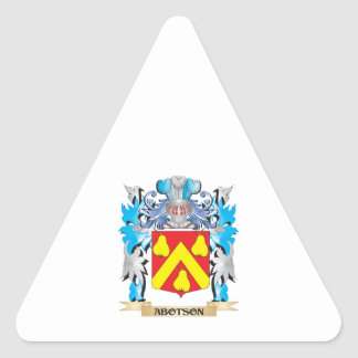 Abotson Coat Of Arms Triangle Stickers