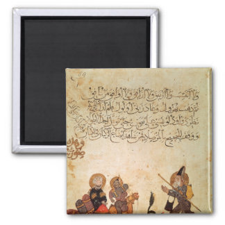 Abou Zayd meets some merchants 2 Inch Square Magnet