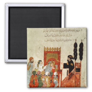 Abou Zayd preaching in the Mosque 2 Inch Square Magnet