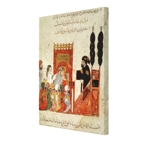 Abou Zayd preaching in the Mosque Canvas Print