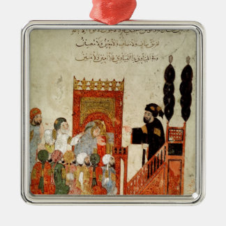 Abou Zayd preaching in the Mosque Metal Ornament