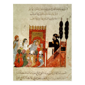 Abou Zayd preaching in the Mosque Postcard