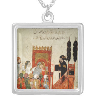 Abou Zayd preaching in the Mosque Silver Plated Necklace