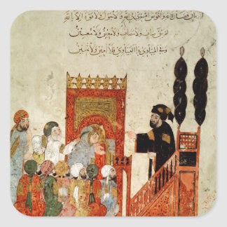 Abou Zayd preaching in the Mosque Square Sticker