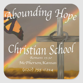 """Abounding Hope Christian School 3"""" Stickers"""