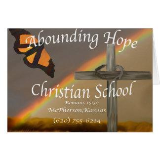 Abounding Hope Christian School Romans 15:13 Card