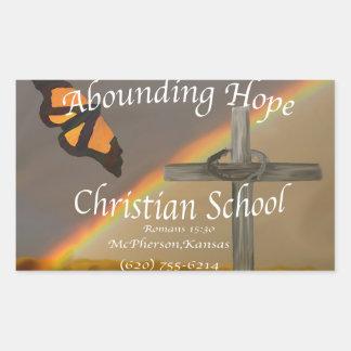 Abounding Hope Christian School Romans 15:13 Rectangular Sticker