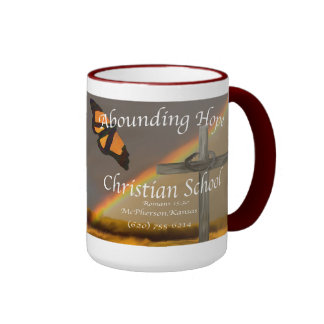 Abounding Hope Christian School Romans 15:13 Ringer Mug