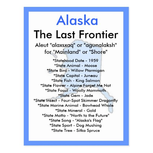 About Alaska Post Card