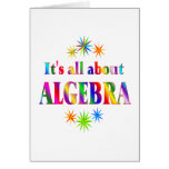About Algebra Greeting Card