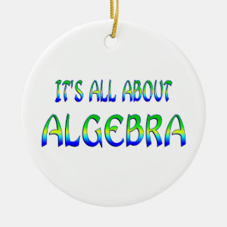 About Algebra Christmas Tree Ornaments