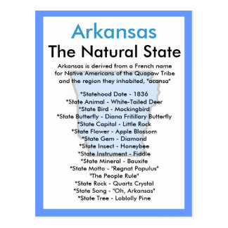 About Arkansas Postcard