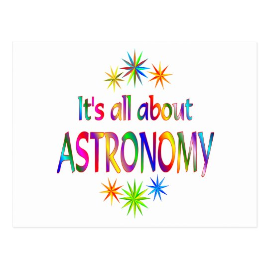 About Astronomy Postcard