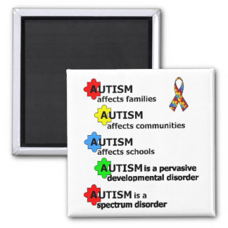 ABOUT AUTISM 2 INCH SQUARE MAGNET