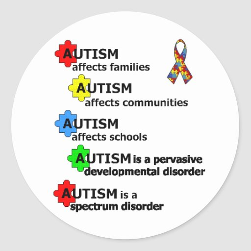 ABOUT AUTISM CLASSIC ROUND STICKER