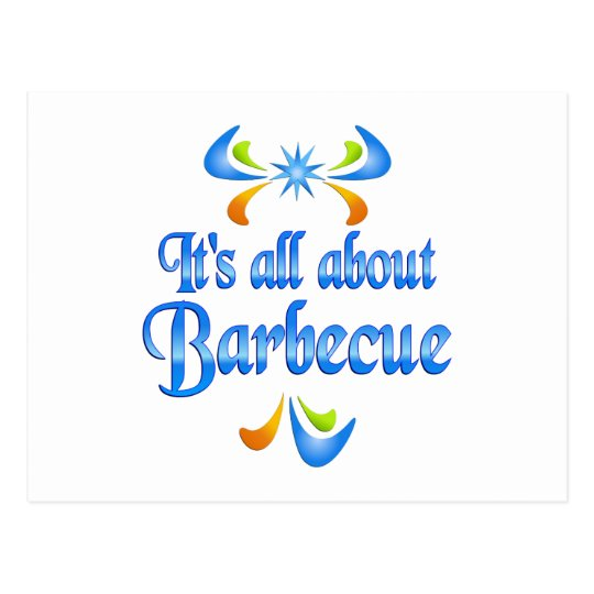 About Barbecue Postcard