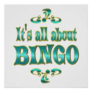 ABOUT BINGO POSTER