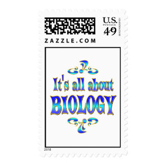 ABOUT BIOLOGY POSTAGE STAMP