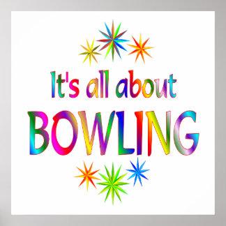 About Bowling Print