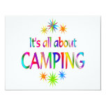 """About Camping 4.25"""" X 5.5"""" Invitation Card"""