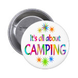 About Camping Pinback Button