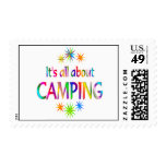About Camping Postage Stamp