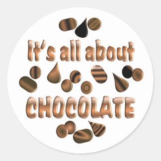 About Chocolate Classic Round Sticker