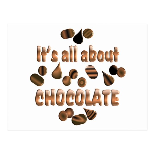 About Chocolate Postcard