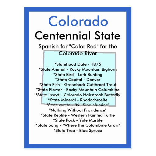 About Colorado Post Cards