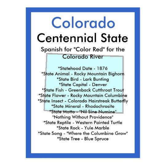 About Colorado Postcard