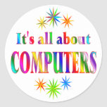 About Computers Classic Round Sticker