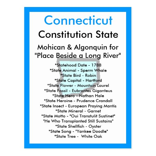 About Connecticut Postcard