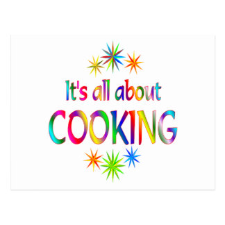 About Cooking Postcard
