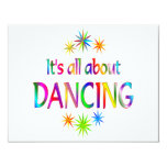 About Dancing 4.25x5.5 Paper Invitation Card